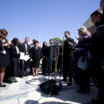 Tim Elder with press in front of U. S. Supreme Court